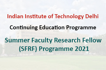 Summer Faculty Research Fellow (SFRF) Programme