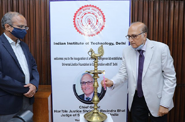 Supreme Court Judge Mr. Justice S. Ravindra Bhat inaugurates UJF Lab Facility on AI for Judiciary at IIT Delhi