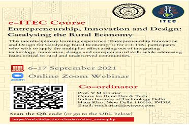 Entrepreneurship Innovation and Design for Catalysing Rural Economy