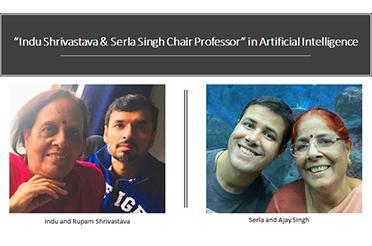 IIT Delhi Alumni Endow Indu Shrivastava & Serla Singh Chair Professor in Artificial Intelligence